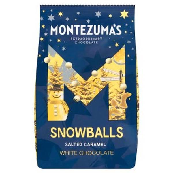 Bilde av Snowballs - hvit sjokolade med salt karamell, 150g / Montezuma´s