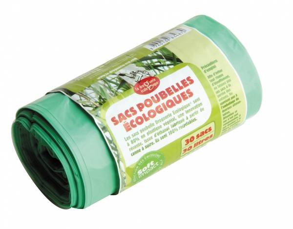 Bilde av 100L søppelposer i bioplast, 10 stk / La droguerie écologique®