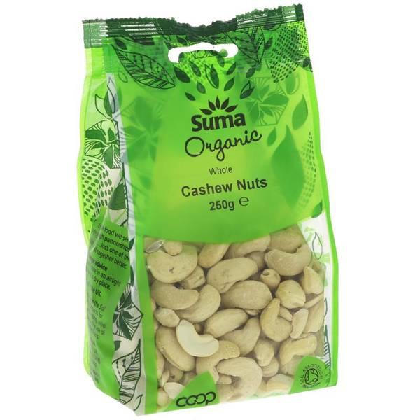 Bilde av Økologiske cashewnøtter 250g / Suma