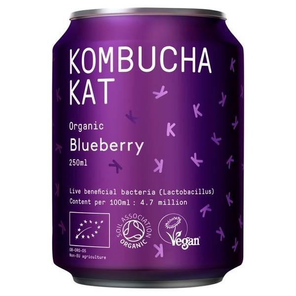 Bilde av Kombucha Blueberry 250 ml / Kombucha Kat