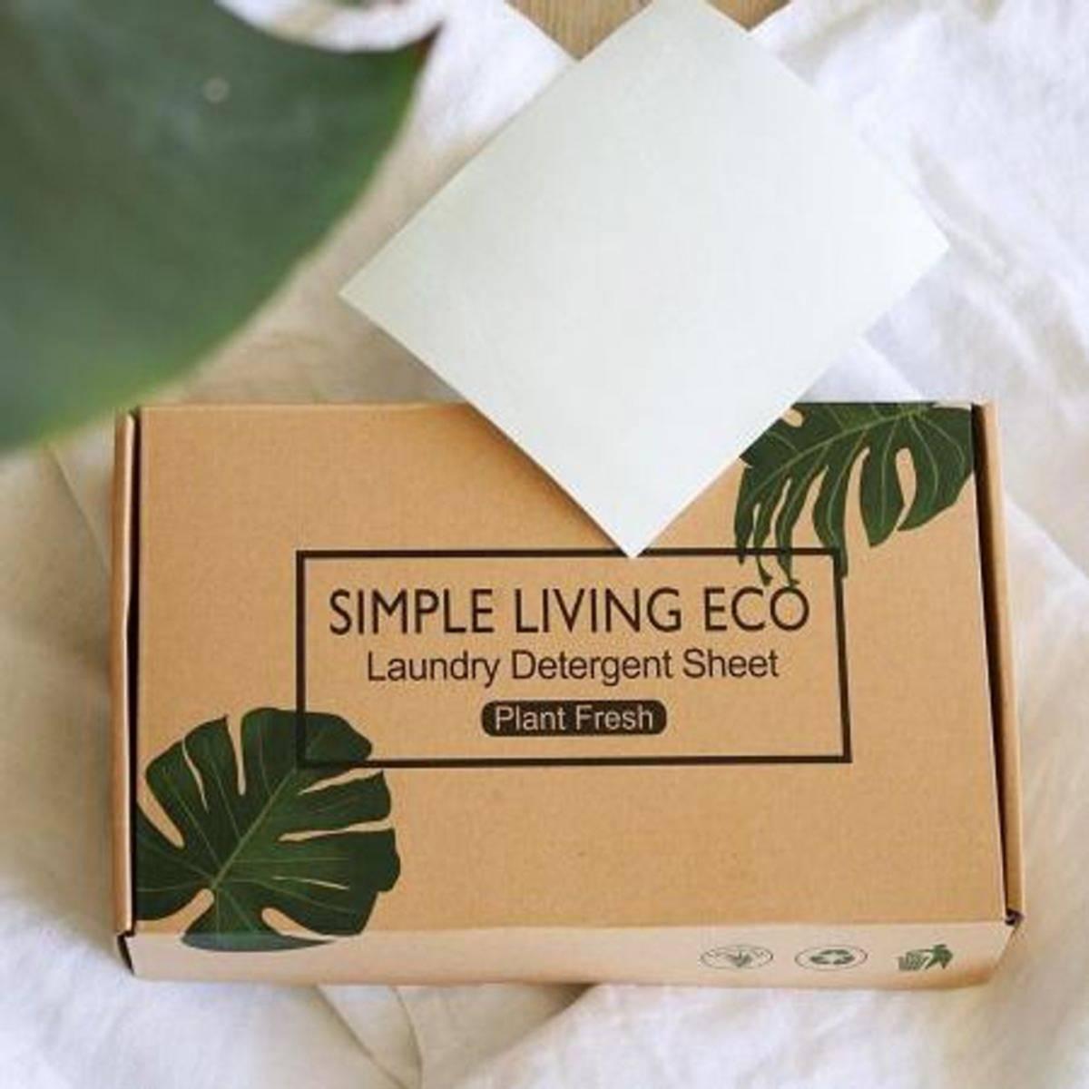 60stk vaskeark, Plant Fresh / Simple Living Eco