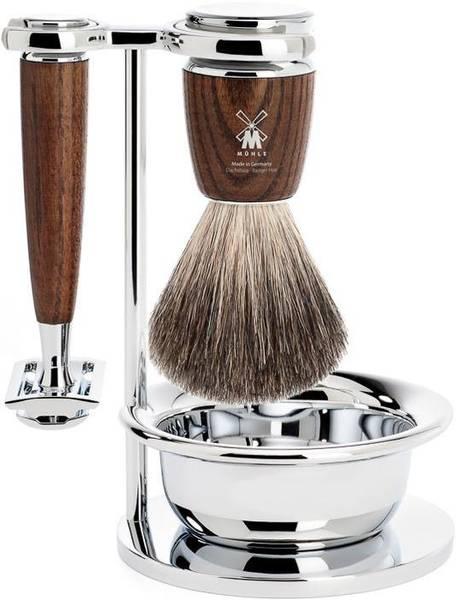 Bilde av Barbersett 4 deler - Rytmo ASK, Pure Badger / Mühle