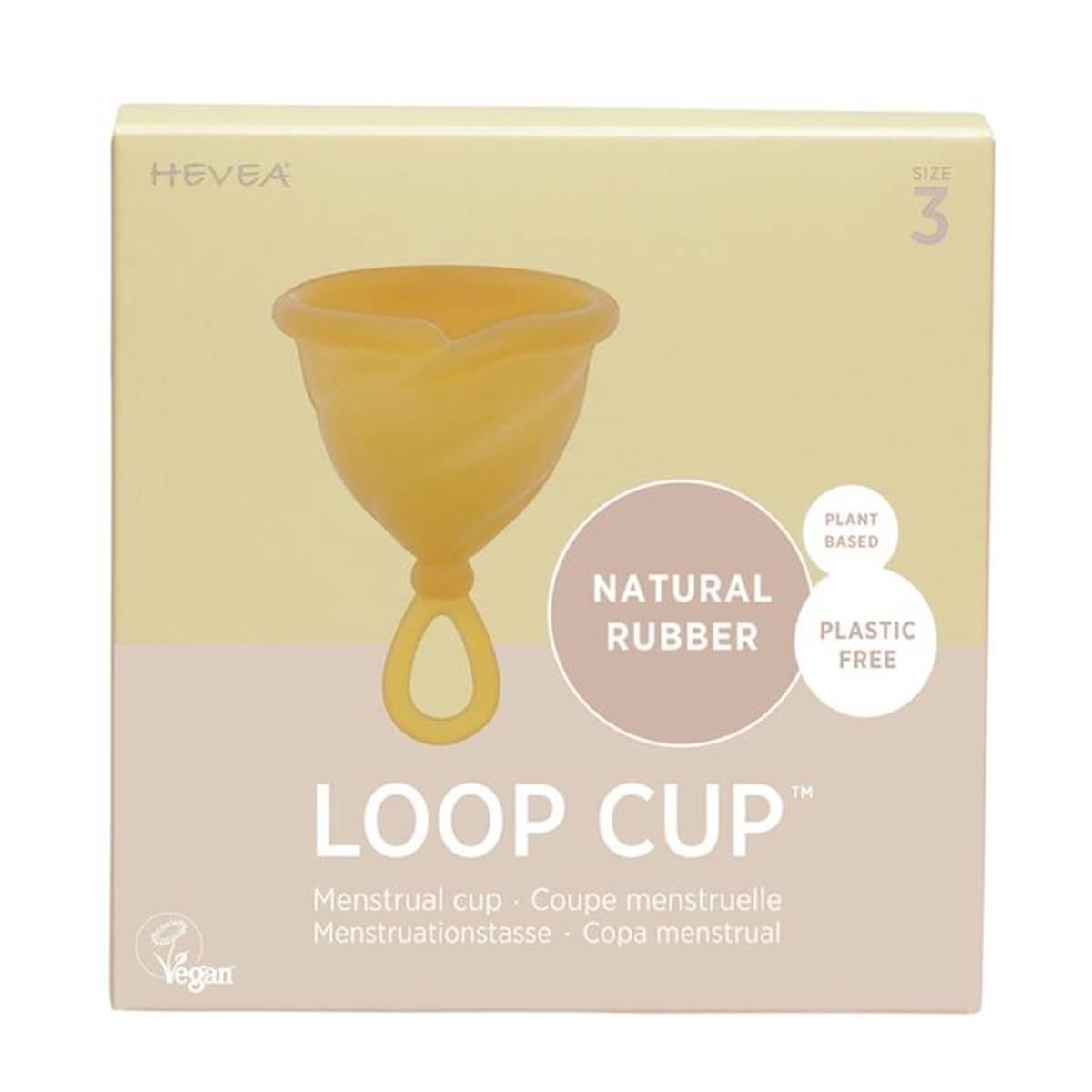 LOOP CUP str.3, menskopp i naturgummi / Hevea