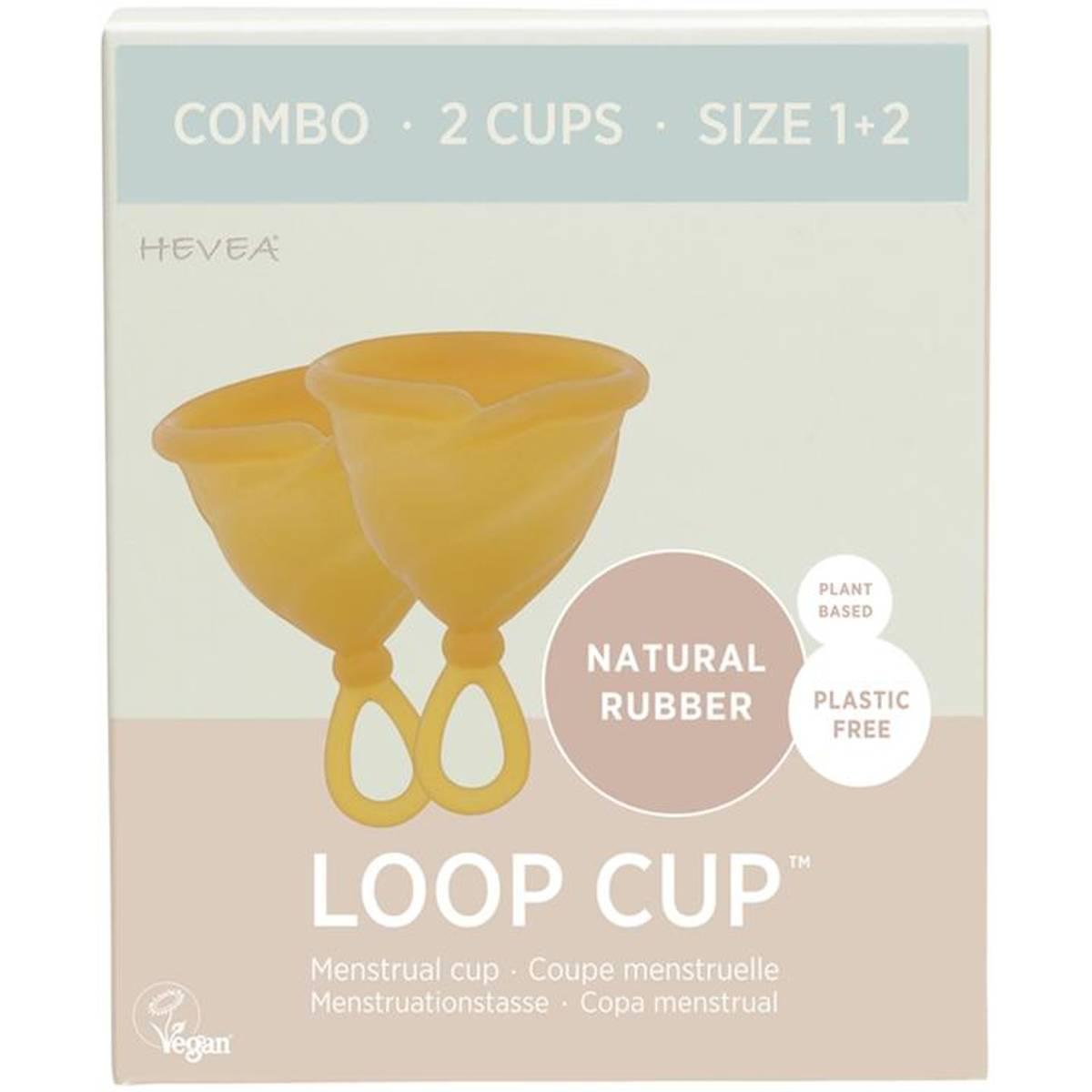 LOOP CUP COMBO str.1+2, menskopp i naturgummi / Hevea