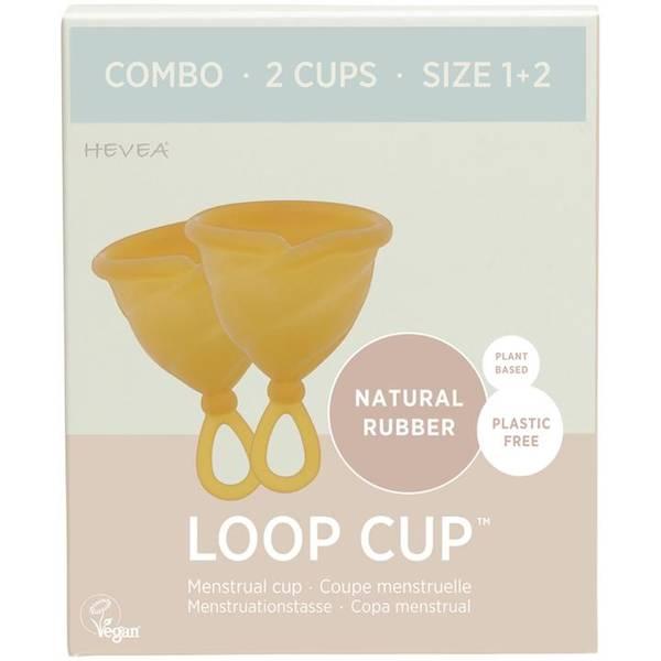 Bilde av LOOP CUP COMBO str.1+2, menskopp i naturgummi / Hevea