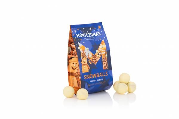 Bilde av Snowballs - hvit melkesjokolade med peanøtt, 150g / Montezuma´s