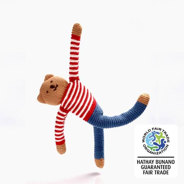Bilde av Heklet teddybjørn Freddy Flipp / Pebble - Best Years
