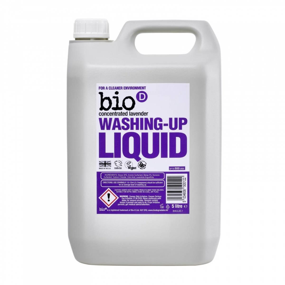 5 L oppvasksåpe Lavendel / Bio-D