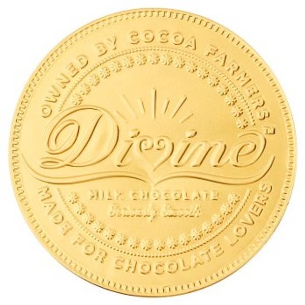 Bilde av Stor sjokolademynt med melkesjokolade 58g / Divine